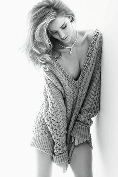 Rosie-Huntington Whiteley in Vogue Germany 2011 by Alexi Lubomirski.