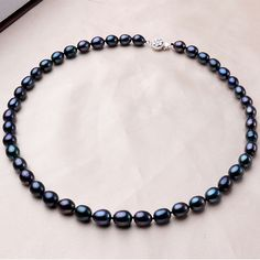 Classic Vintage Black 100% Natural Freshwater Pearl Women Necklaces 2017Fashion Good Quality Gold Plated Jewelry Gift For Mother