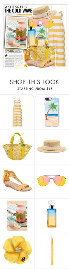 """""""Untitled #171"""" by biinabnab ❤ liked on Polyvore featuring Mara Hoffman, Casetify, Dolce&Gabbana, Filù Hats, Kenneth Cole Reaction, Topshop, Urban Outfitters, Calvin Klein and Too Faced Cosmetics"""