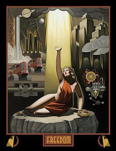 Dieselpunk Encyclopedia is happy to present: Tim Huhn and his Art Deco Series. Art Deco Artwork, Art Deco Paintings, Art Deco Posters, Art Deco Illustration, Illustrations, Retro Kunst, Retro Art, Art Nouveau, Steampunk Kunst