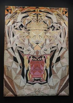 Illulian's geometric tiger rug is a creative take on a classic tradition.