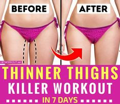7 Simple exercises to get thinner thighs in just 7 days.