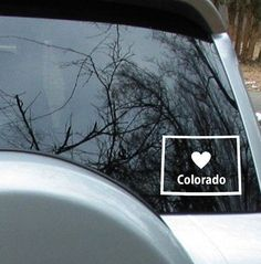 Love Colorado State Sticker Car Decal