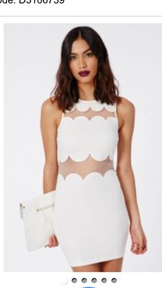 977c51aa5b22 Make sure you re ready for party season with this totally rad scallop  detail shift dress with organza panelling. This feminine style in white  crepe is easy ...