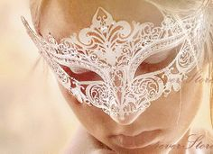 Vintage Wedding White Masquerade Mask with Diamonds  by 4everstore, $36.95 this is it. The one ima get.
