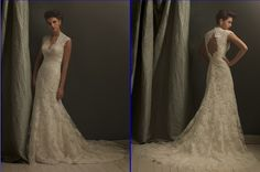 Exquisite Champagne Wedding Dress Prom Gown Custom. I need this to be my dress!!!