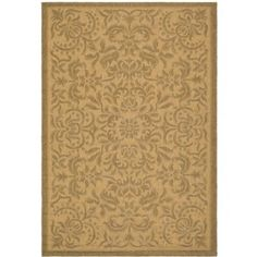 Amazon.com - Safavieh CY6634-39 Courtyard Collection Golden/Outdoor Area Rug, 9-Feet 2-Inch by 12-Feet 6-Inch