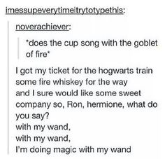 Goblet of fire cup song