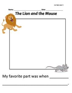 Printables The Lion And The Mouse Worksheets first grade reading comprehension worksheets the lion and this is a writing activity to go along with read aloud mouse of lesson 1 in journeys for grade
