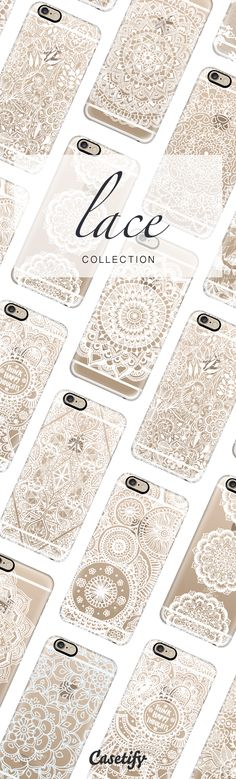 Let there be lace. Shop our Lace Collection by clicking on the URL here: https://www.casetify.com/lace
