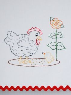 This happy hen and chick embroidery pattern is part of a six page pdf packet. The packet includes the pattern, an introduction page, tips for transferring, suggested stitches and some embellishment patterns to add a little pizzazz to your project. This pattern packet is available for instant download. As soon as your payment is complete, the pattern may be downloaded and you are ready to print it and transfer it to your project. Complete instructions for downloading your file may be found…