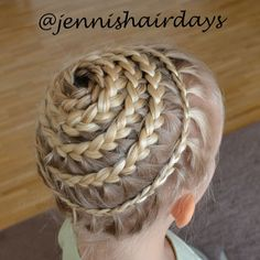 The girls are having a little party for their friends today. My daughter announced days ago that this is the braid she wants for the party. ...