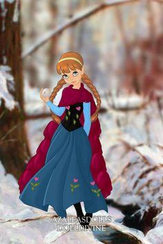 Anna(Frozen) ~ by anastasia95 ~ created using the Pixie doll maker | DollDivine.com