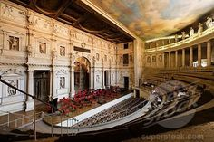 Teatro Olimpico one of the last covered theatres in italy.. Vicenza, Italy
