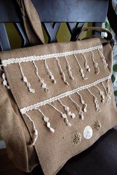 Victorian Lace Messenger Bag