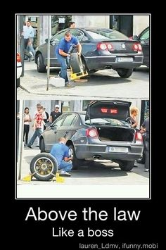 Always have a spare tire!hahaha genius !
