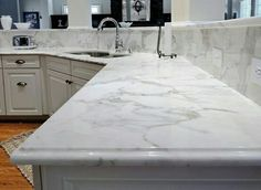 Ogee Edge Kitchen Counter Tops Quartz White Countertops Best Marble
