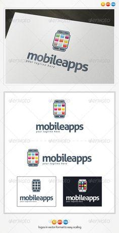 Mobile Apps - Logo Design Template Vector #logotype Download it here: http://graphicriver.net/item/mobile-apps-logo/4433457?s_rank=931?ref=nesto