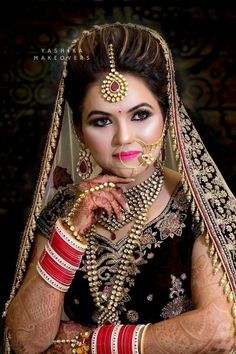 The epitome of the ideal bridal hair and makeup look for your Big Day. Makeupbymomta is the artist for you worldwide coverage 088 099 Outfit: Ekta Solanki Jewellery: Generations Accessories and Beauty