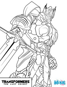 Transformers Optimus Prime Kre O coloring Page by Mecha Zone