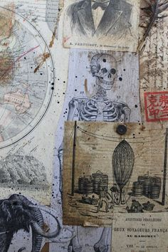 Collage by Jérôme Cavailles, French Artist