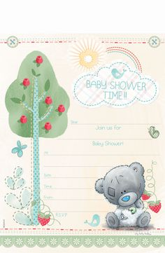 Tattyy Baby Shower Invite (SA Greetings) http://www.sagreetings.co.za/