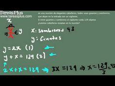 Aplicación ecuaciones lineales (problema sombreros y guantes) Problem Solving, Reunions, Gloves, Sombreros, So Done, Tutorials
