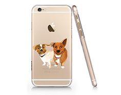 Cute Dog Slim Iphone 6 6s Case, Clear Iphone Hard Cover C...