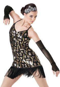 Jazz Weissman™ | Art Deco Sequin Fringe Hem Dress this is my jazz costume for recital this year