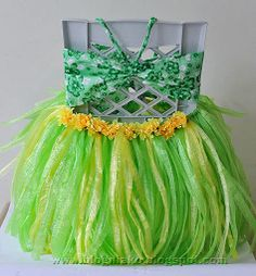 DIY Grass Skirt and Drink Hula Skirt | Blog ni ako
