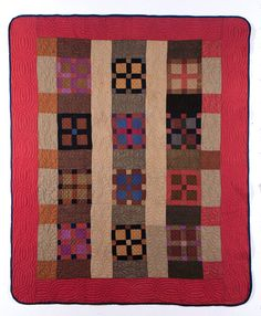 New Nine Patch and Four Patch. (Maker not recorded). ca. 1897. From Illinois State Museum, The Quilt Index