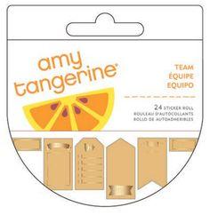 Amy Tangerine Kraft Sticker Roll at @studio_calico