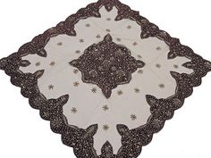Attractive Elegant Table Linens U2013 Tan Net Fabric Gold Beaded Fancy India Tablecloth  Overlay