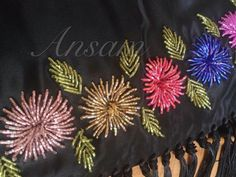 When I saw these I immediately thought of Asters Hand Embroidery Dress, Tambour Embroidery, Hand Embroidery Stitches, Silk Ribbon Embroidery, Embroidery Techniques, Beaded Embroidery, Bead Embroidery Tutorial, Bead Embroidery Patterns, Hand Embroidery Designs