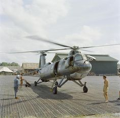 A Bristol Belvedere twin rotor helicopter of No 66 Squadron RAF at Kuching, British Borneo during operations in Indonesia.