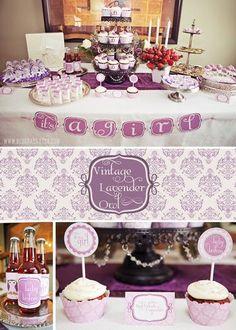 Owl Baby Shower #purple I want it!!!!