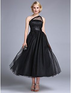 TS+Couture®+Prom+/+Formal+Evening+/+Wedding+Party+Dress+-+1950s+/+Vintage+Inspired+Plus+Size+/+Petite+A-line+/+Princess+One+Shoulder+Ankle-length+–+USD+$+99.99