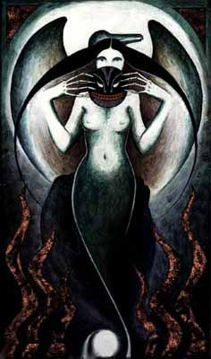 In Inuit mythology, Sedna is a sea goddess and master of the animals, especially mammals such as seals, of the ocean. She lives in Adlivun, the Inuit underworld.