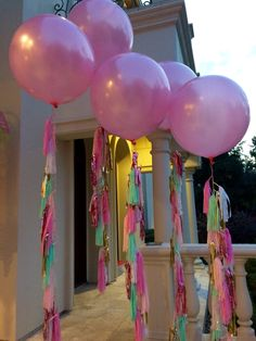 Tassel balloons | Birthday Party http://www.idealpartydecorators.com