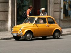 Fiat 500 in Rome. Design classic!