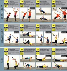 Suspension Training TRX Facts and Posters - - This simple exercise tool is rapidly appearing in every health club in the world. What is it that will quickly surpass the beloved balance ball-the TRX Suspension workout system. See the TRX posters. Suspension Training, Suspension Workout, Trx Suspension, Fitness Workouts, Easy Workouts, Fitness Tips, Fitness Motivation, Health Fitness, Health Club