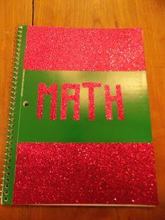 Chasing College: DIY School Supplies #folder #binder #notebook #glitter…