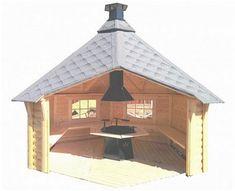 Bilderesultat for gapahuker montering Survival Shelter, Bushcraft, Gazebo, Outdoor Living, Outdoor Structures, House Styles, Image, Home Decor, Fire Pits