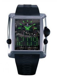 deGrisogono DG N03 Meccanico DG Power Reserve - швейцарские мужские часы наручные, платиновые, титановые, черные