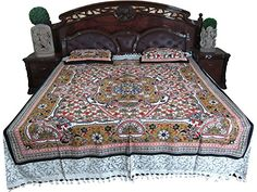 Indian Bedding Bedspread Floral Printed Cotton Home Furnishing Bedcover 2 Pillow Covers Hippie Bedding, Tapestry Bedding, Indian Bedding, Bohemian Bedspread, Cotton Bedding, Linen Bedding, Bed Linens, Indian Interiors, Cheap Bed Sheets