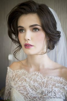 Bridal look makeup and hair inspiration.