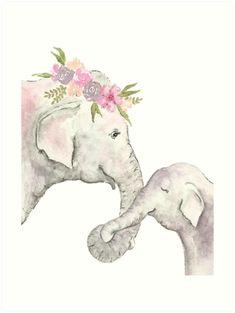 elefante acuarela bebe - Buscar con Google
