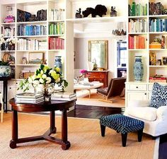library by color // aerin lauder house