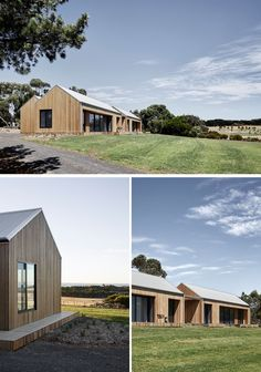 Two Pavilions House By Tom Robertson Architects Tom Robertson Architects have designed the 'Two Pavilions House', a modern home that sits on property along Victorian coastline of Australia. Country House Design, Small House Design, Modern House Design, Modern Residential Architecture, Australian Architecture, Rural House, House In The Woods, Style At Home, Australian Country Houses