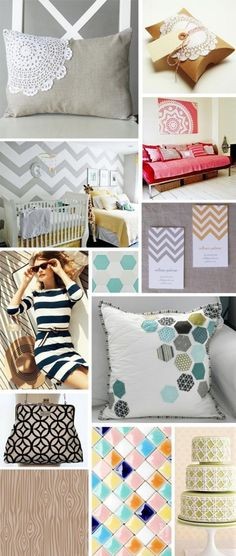 Trends in Patterns...Heck yea I Lub that Chevron wall!!:)